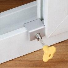 انزلاق الباب نافذة قفل مقيد الألومنيوم الأطفال الطفل نافذة أمان فتحة كابل الحد قفل مفتاح السلامة قفل جهاز