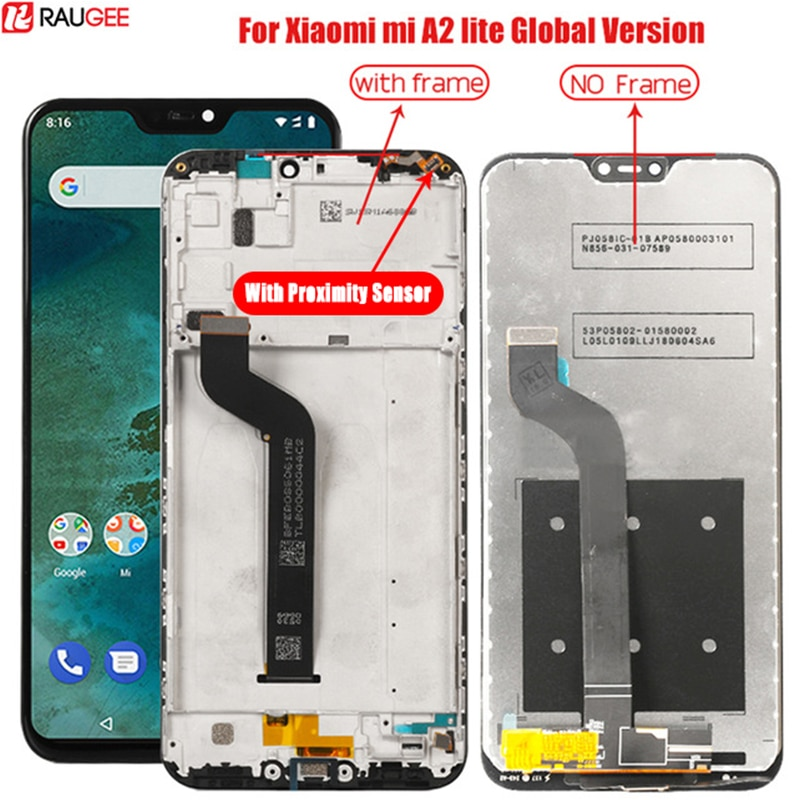 Lcd For Xiaomi Mi A2 Lite LCD Display With Frame Digitizer Display Touch Screen Replacement For Xiao