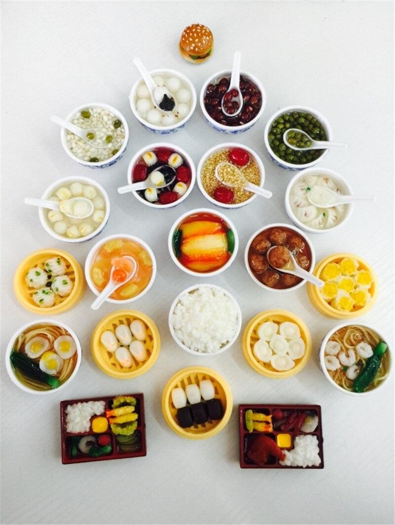 Aimants de réfrigérateur alimentaire chinois   Simulation en 3D, autocollant de réfrigérateur décoratif de chine, décoration de cuisine et de maison