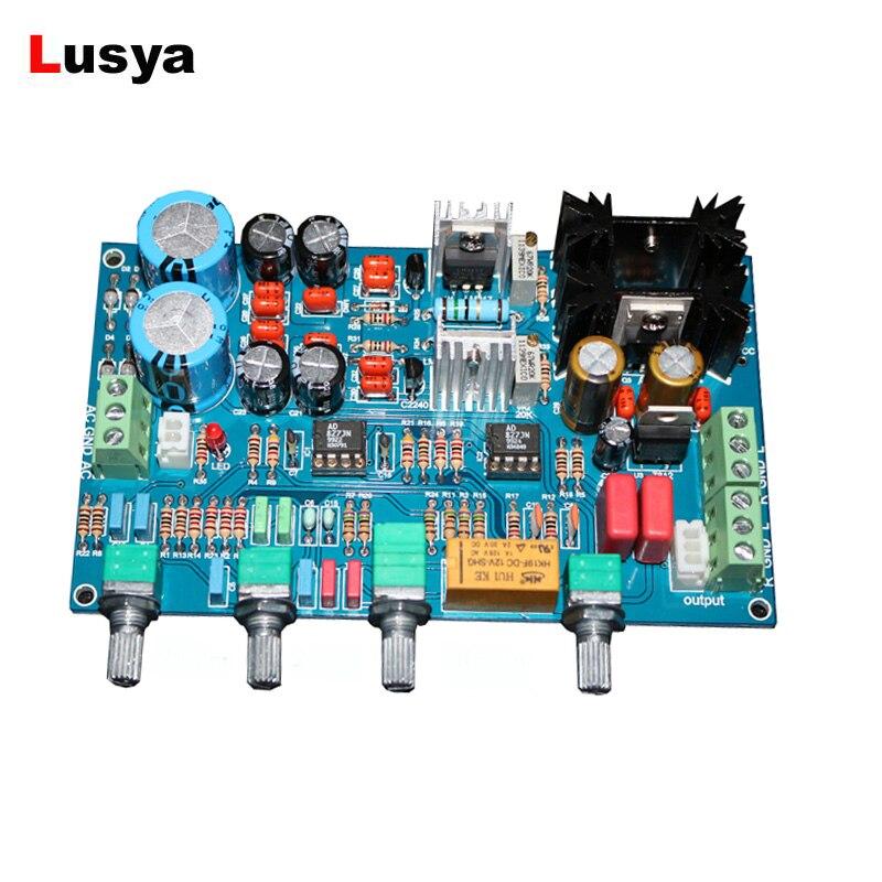 PREAMPLIFICADOR AD827JN Fever preamplificador, preamplificador de placa amplificadora Clase A, Kits DIY/tablero terminado DC/AC12-17V