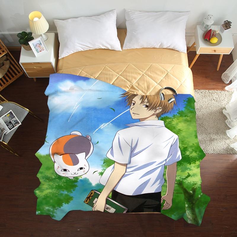Mxdfafa أنيمي Natsume Yuujinchou الصيف لحاف ثلاثية الأبعاد الفاخرة الفراش نوعية جيدة غطاء السرير الأطفال الكبار حاف لينة المعزي