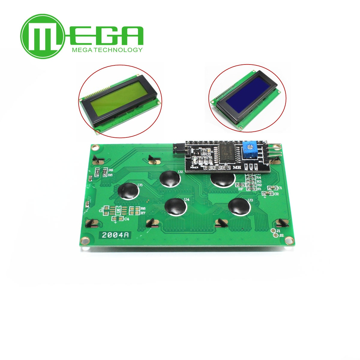 LCD 2004 + I2C 2004 20x4 2004A синий экран HD44780 для arduino символ LCD /w IIC/I2C серийный интерфейс адаптер модуль