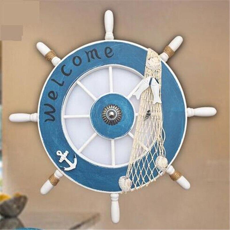 Детская настенная лампа на руль, декоративный канал, спальня, средиземноморский мультфильм, морской ветер, светодиодный потолочный светиль...
