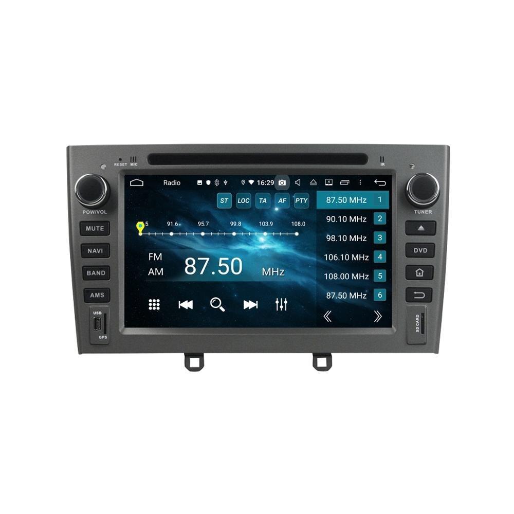 "DSP RAM de 4GB Octa Core 7 ""Android 9,0 Car Radio reproductor de DVD para Peugeot 308, 408, 2007-2010, GPS, WIFI, Bluetooth 4,2 USB espejo-enlace"