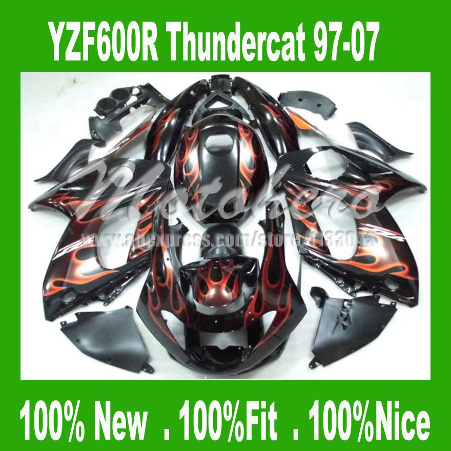 La inyección para YAMAHA YZF600R Thundercat 1997-2007 YZF 600R 97-07 97 98 99 00 01 02 03 04 05 06 07 llama carenados kit # 922d