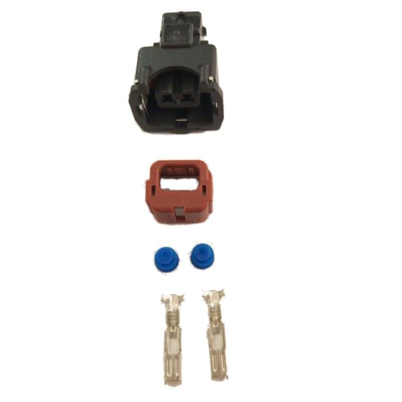 Conector eléctrico a prueba de agua, 2 pines, rojo + negro, DJ7023YB-3.5-21,...