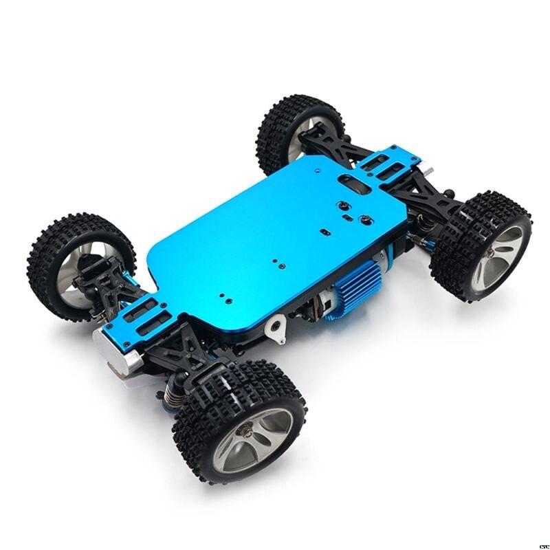1/18 rc carro azul 4wd chassi do carro, de fibra de carbono peças chassi para wltoys a949 A959-B a969 a979 k929 rc carro acessórios