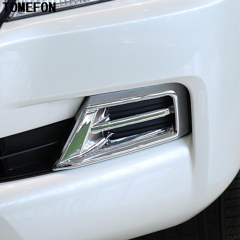 Estilo de coche para Toyota Land Cruiser LC200 FJ200 2016 ABS cromado para faro delantero antiniebla cubierta embellecedores