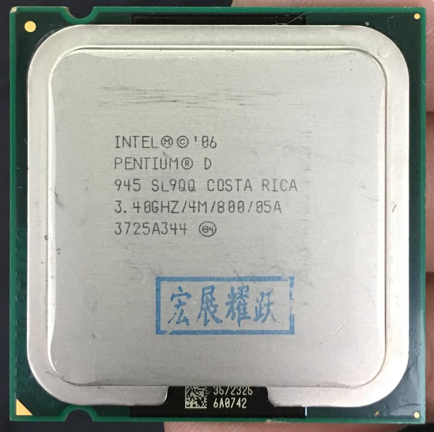 Intel Pentium D 945 PC Computer Desktop Processor PD 945 CPU  LGA775 CPU  4M Cache 3.40 GHz 800 MHz PD945