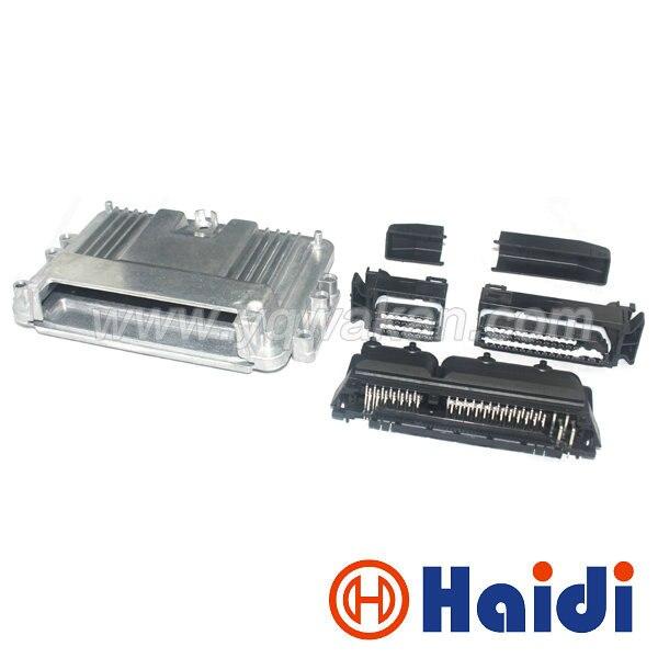 شحن مجاني 1set 80p ECU مجموعة صندوق ألومنيوم مع 80pin Case موتور سيارة LPG CNG تحويل ذكر موصل السيارات الإناث