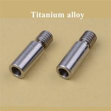 2 pièces Super lisse V6 Kraken alliage de titane coupure de chaleur gorge chimère/cyclope TC4 thermique baril 1.75mm imprimante 3d
