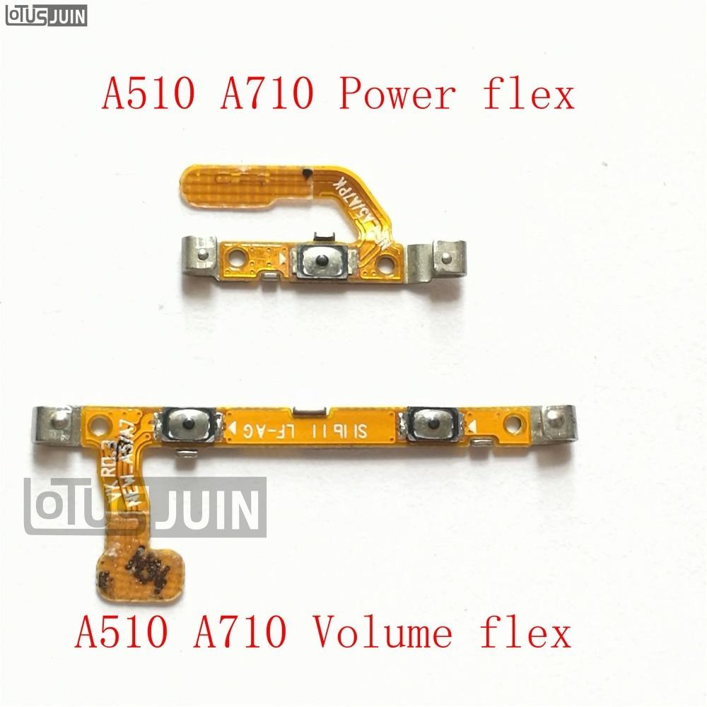 10 pièces pour Samsung Galaxy A510 A710 A5 A7 2016 puissance Volume bouton interrupteur connecteur câble flexible