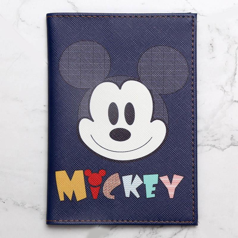 Fashion Cute Mickey Animals Cartoon Passport Cover Men Women PU Leather Travel Passport Holder Case Card ID Holders 14.5cm*10cm