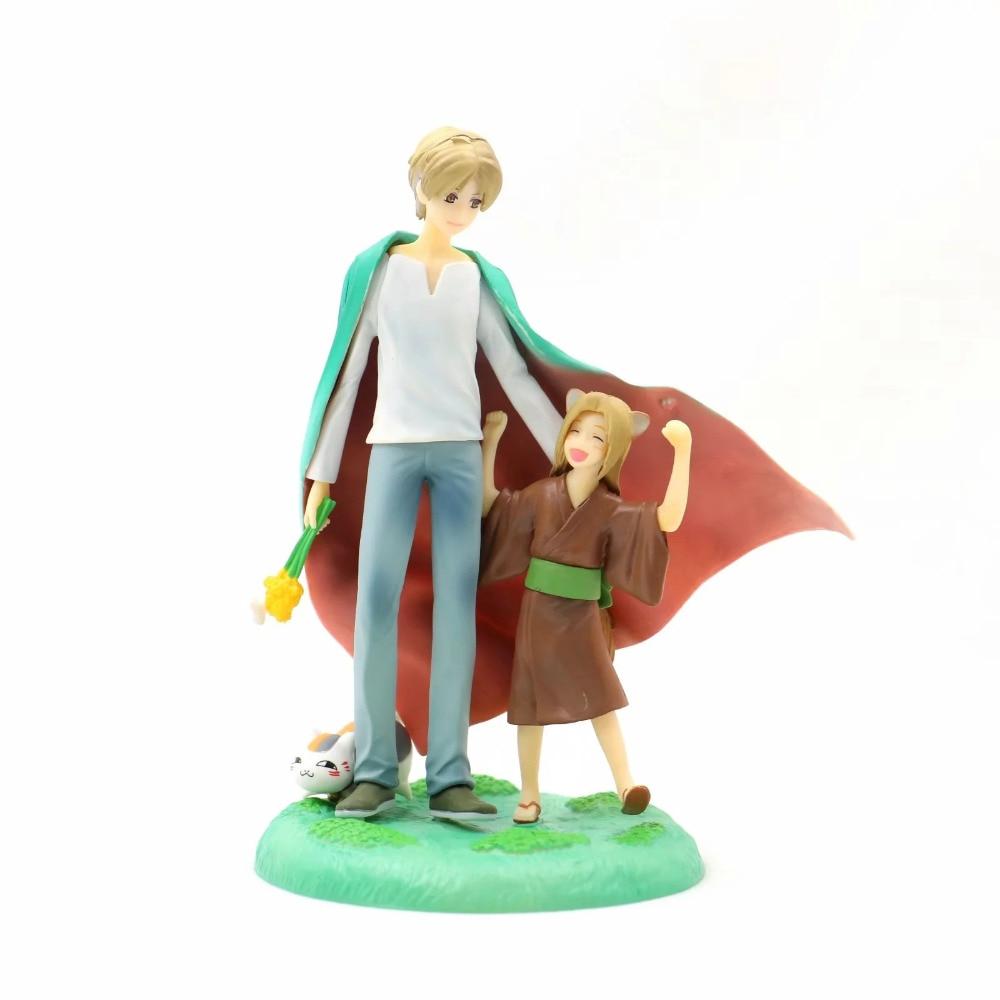 Figura de Anime, estatua de Natsumes, libro de amigos Natsume Yuujinchou Takashi Natsume Fox demon, figura de juguete de 17cm