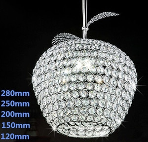 NEW k9 Crystal Chandelier Apple Lustres De Cristal Restaurant LED lights Modern Pendant Lamp