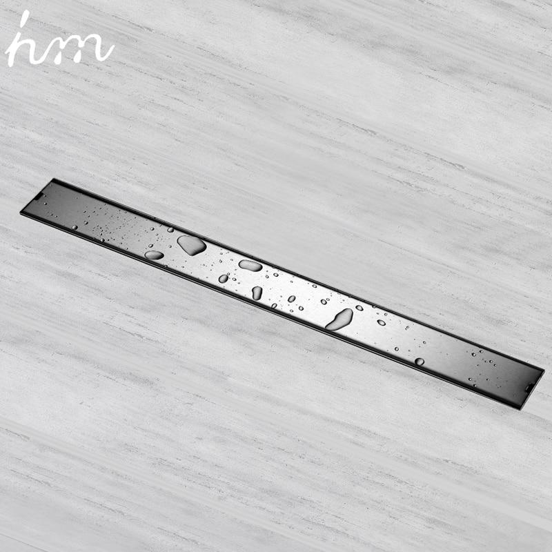 Устойчивое к запаху покрытие для слива пола 60/80/100 / 120см Прямоугольная решетка для душа Невидимый длинный слив для пола