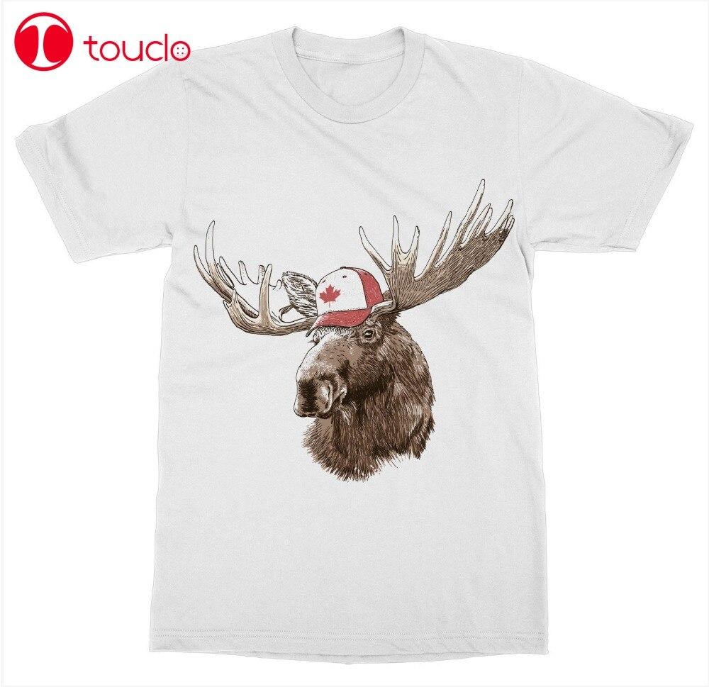 Camiseta para hombre moda Canadá Moose camiseta Canadá día canadiense True North Beaver Oso Polar hoja de arce cuello redondo sudaderas con capucha