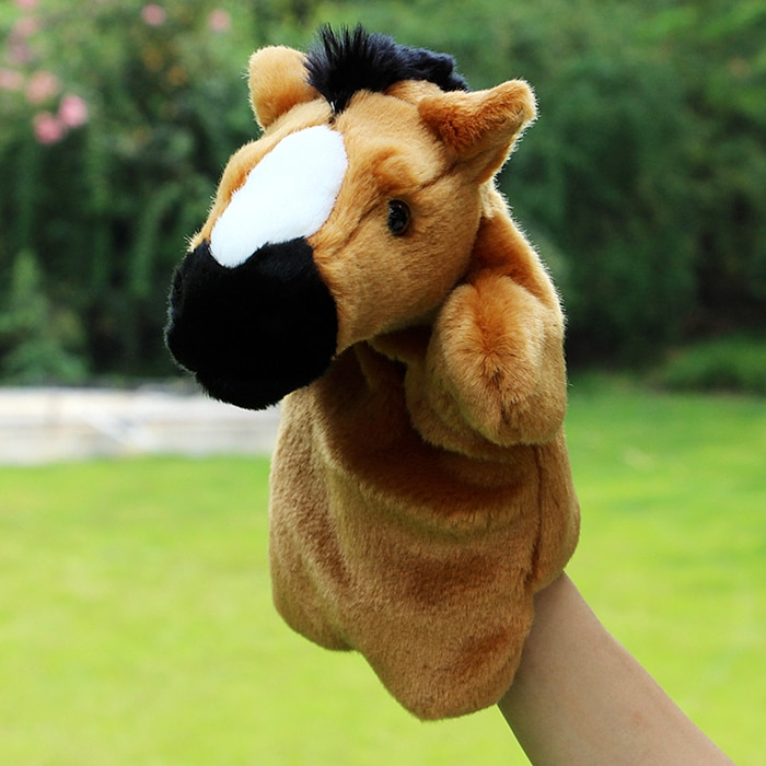 Marioneta de juguete de felpa muñeco caballo de juguete grandes títeres muñecas niños juguetes de regalo