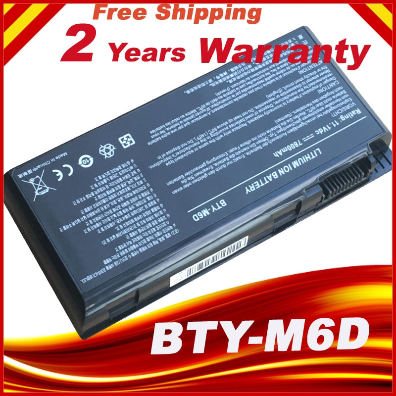 BTY-M6D Аккумулятор для ноутбука MSI GT60 GT663 GT680 GX660 GX60 BTY-M6D S9N-3496200-M47