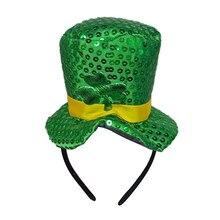 جديد الأيرلندية باتريكس اليوم عقال الأخضر الأيرلندية الكبار قبعة النفل المخملية أفضل قبعة للرجال والنساء