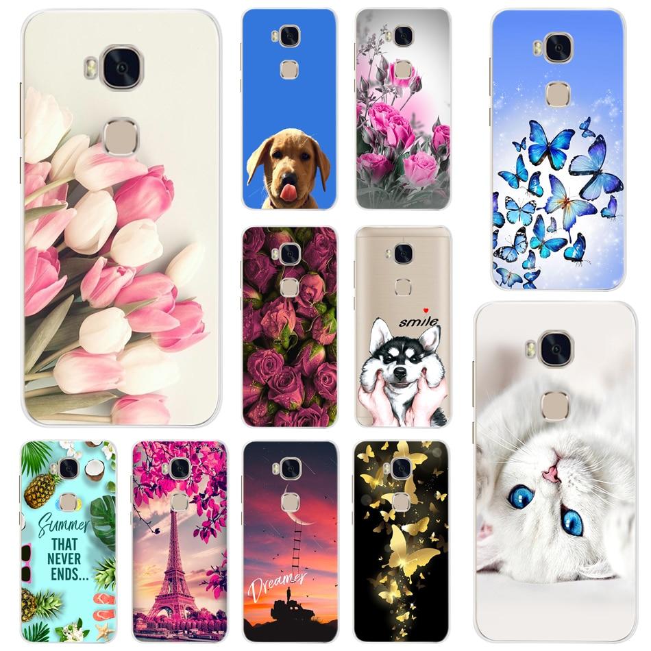 Painted Case For Huawei Honor 5X Soft TPU Silicone Phone Case For Huawei GR5 2015 Honor 5X Cases Cover For Huawei Honor 5x 5 X