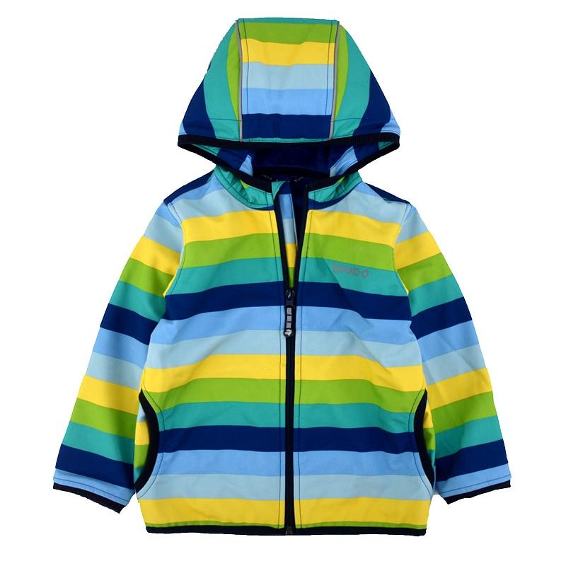 Long hair coat boy girl soft shell coat waterproof warm kid jacket Children's soft shell plus velvet coat