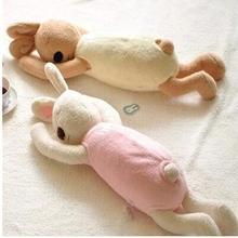 1 pièces 70cm japon jouet grandes oreilles longues le sucre sommeil lapin en peluche poupée peluche lapin tissu doux jouets bébé enfants sommeil jouets