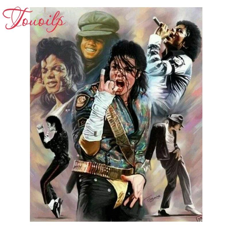 Voll runde & platz diamant stickerei berühmte sänger diamant malerei Michael Jackson mosaik perle bild von strass