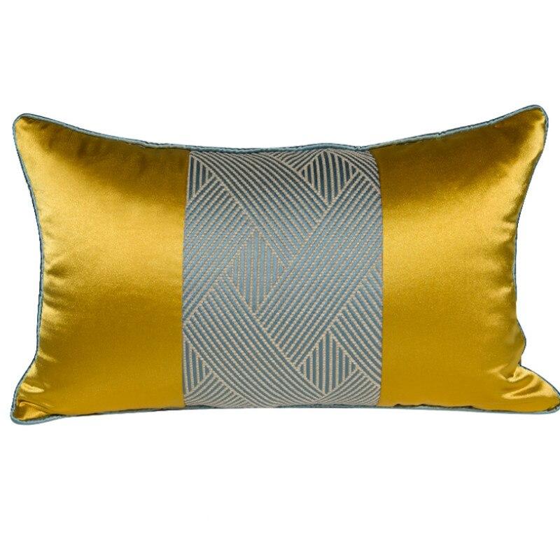 DUNXDECO amortiguador cubierta decorativa funda de almohada para cintura de lujo moderno de lujo elegante artística clásica sofá silla Coussin vergüenza decoración de la habitación