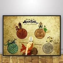 Avatar The Last Airbender  Art Silk Poster Home Decor 12x18 24x36inch