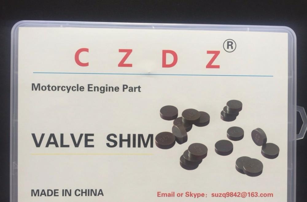 51 peças 7.48mm Válvula de Calços de Espessura 1,20mm-2,0mm, 17 tipos, 3 peças de cada tamanho