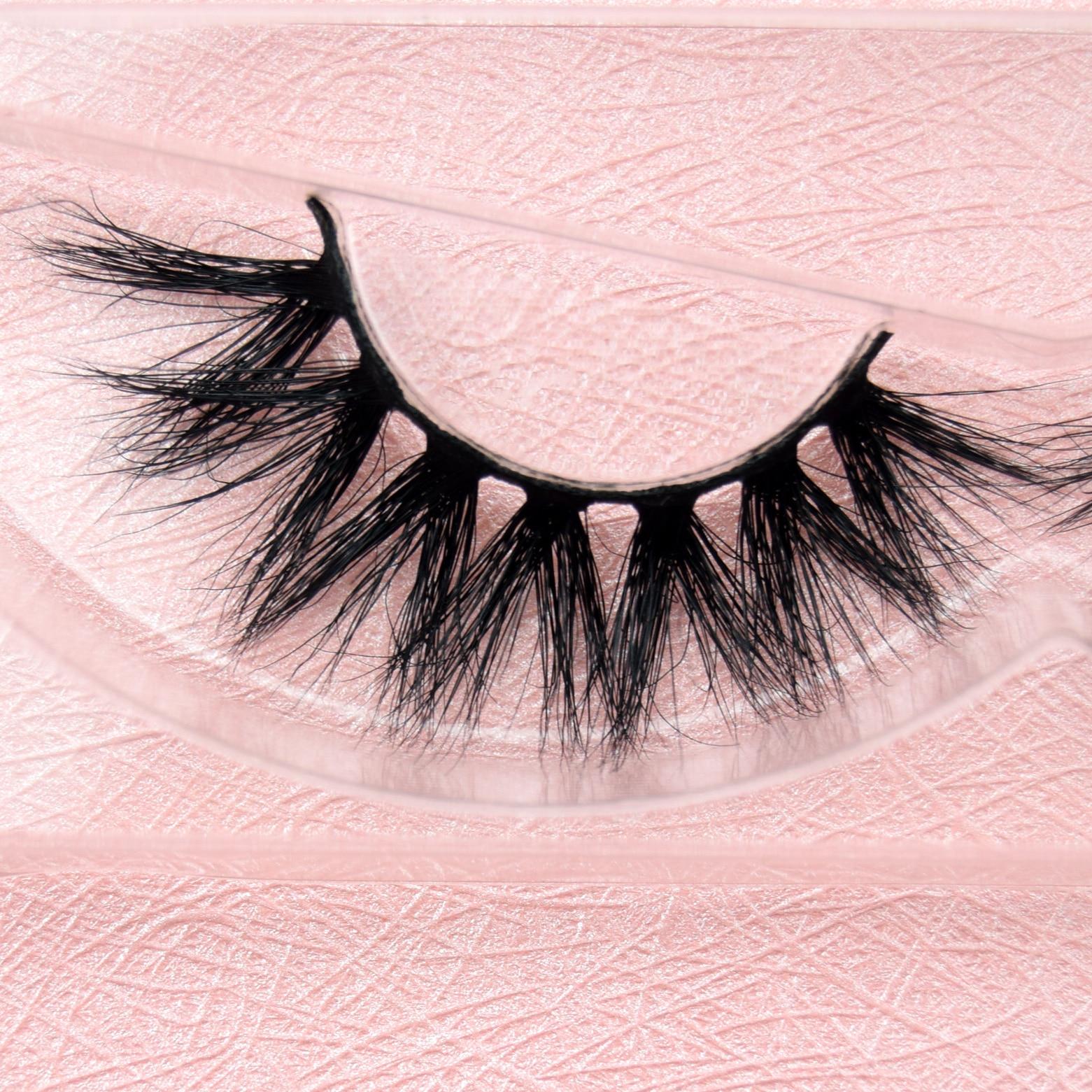 visofree 1 pair 3d mink lashes wholesale 100% real mink fur Handmade crossing lashes individual stri
