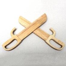 Kung Fu Chong Chun boxe papillon double couteau Performance entraînement primaire couteau en bois sans tranchant