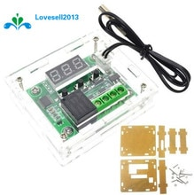 Caso de harmonização para w1209 digital led dc 12 v calor frio temp termostato módulo interruptor controle temperatura de ligar/desligar placa controlador