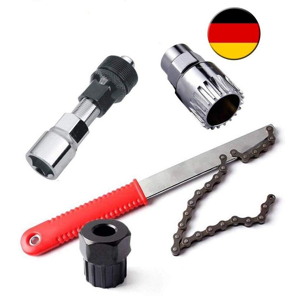 Herramientas de bicicleta 4 en 1 Pedal de accionamiento soporte inferior manivela Extractor de Cassette Tirador
