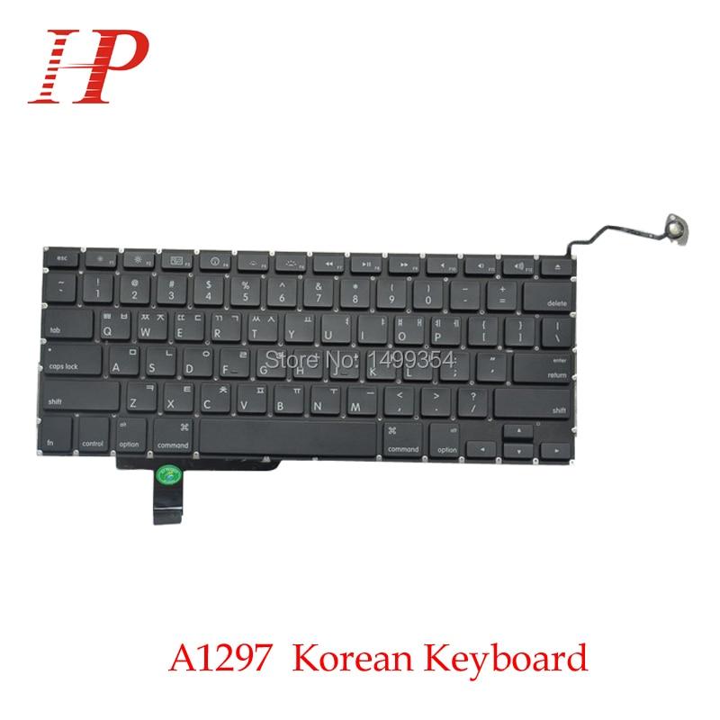 Teclado coreano genuino A1297 de Corea con luz de fondo para Apple Macbook Pro 17 A1297 teclado coreano estándar 2009-2012