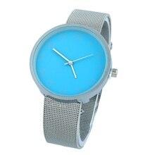 Reloj de pulsera Gnova Platinum de moda para mujer, banda plateada, colores suaves, reloj de pulsera estilo Geneva para oficina