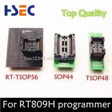 Top Quality Adaptador + SOP44 TSOP56 para adaptador de tomada adaptador de tomada + TSOP48 para DIP48 DIP44 para RT809h emmc- flash nand programador