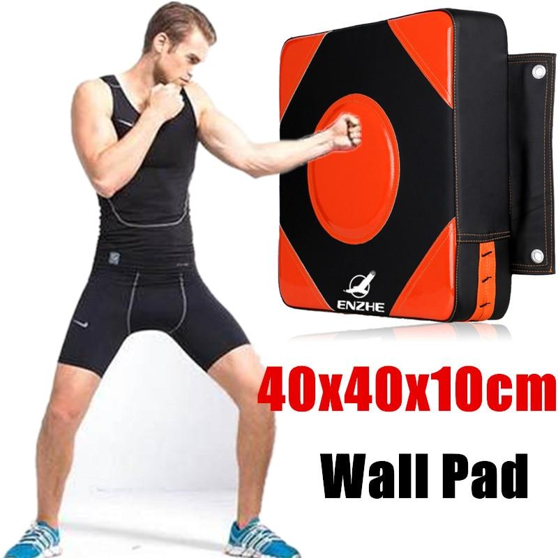 Настенная панель 40*40*10 см, ударный мешок для взрослых, манекен для бокса, MMA, квадратный фокус, удары TKD, тренировочный щит для ММА