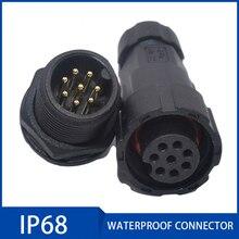 Prise de connecteur daviation IP68 15A   2/3/4/5/6/7/8/9/10 11/12 broches, capteur, connecteurs de Signal, boîte de jonction ignifuge scellée
