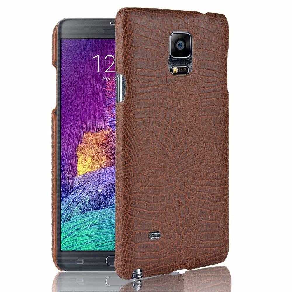 Caso para la nota 4 Core patrón de cocodrilo cubierta para Samsung...