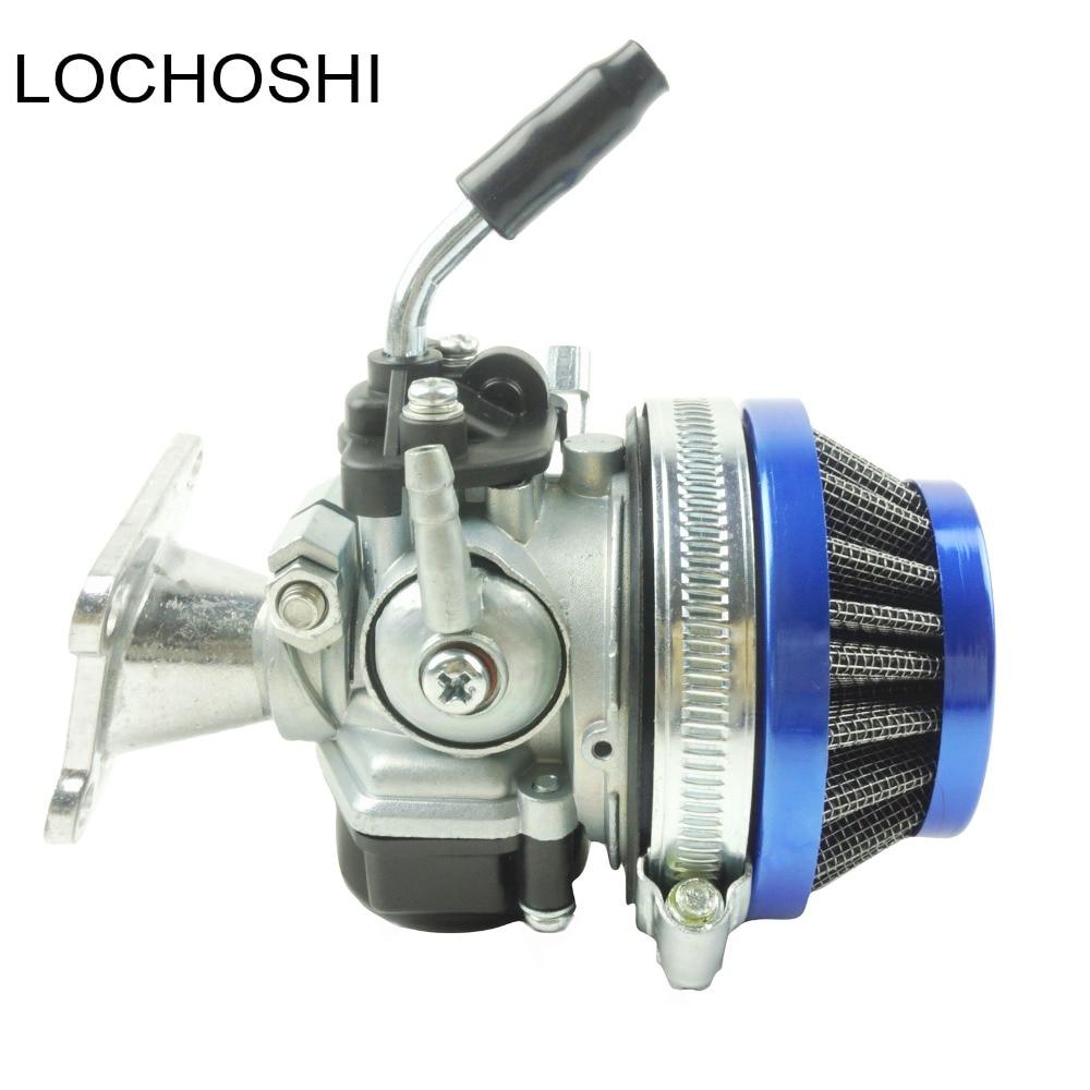 LOCHOSHI гоночный карбюратор воздушный фильтр в сборе впускная труба для 49cc 50cc 60CC 66CC 80cc 2-тактный мини карманный велосипед ATV велосипед