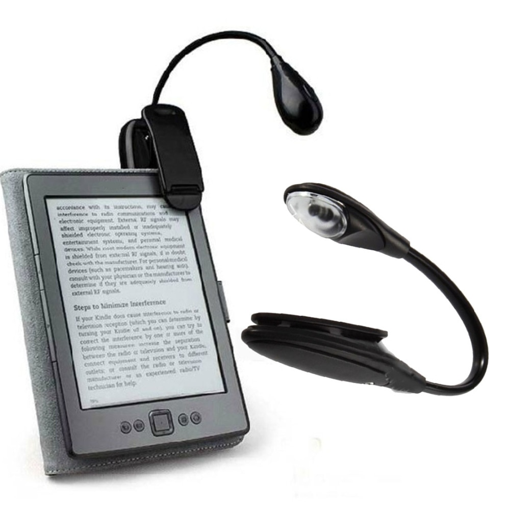 Mini Lámpara de lectura LED portátil negra, lámpara de lectura Flexible, novedad, luz para portátil, PC, música, soporte, lámpara de luz, Clip ajustable