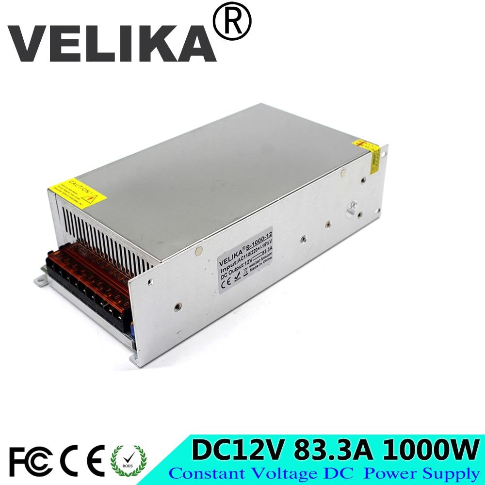 AC110 220V к DC 12V трансформатор напряжения 83.3A 1000W Импульсный выключатель питания для