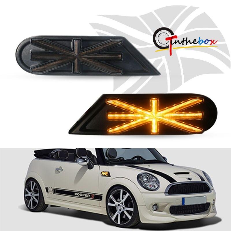 Lámparas de indicador lateral Gtinthebox, luces LED ámbar para MKII MINI Cooper R55 R56 R57 R58 R59, luz LED intermitente dinámica