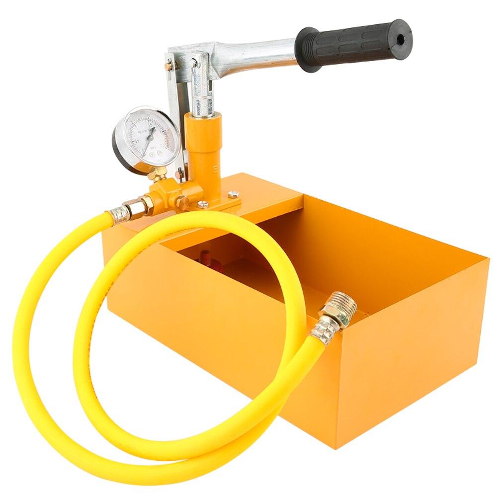 جهاز اختبار ضغط المياه اليدوي ، 2.5 ميجا باسكال ، 25 كجم ، مضخة اختبار هيدروليكية مع خرطوم G1/2