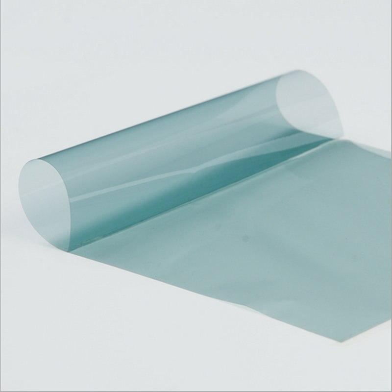 75% VLT sombrilla de protección de coche azul claro parabrisas frontal película de rechazo de calor Nano cerámica para sol Bloqueo de privacidad