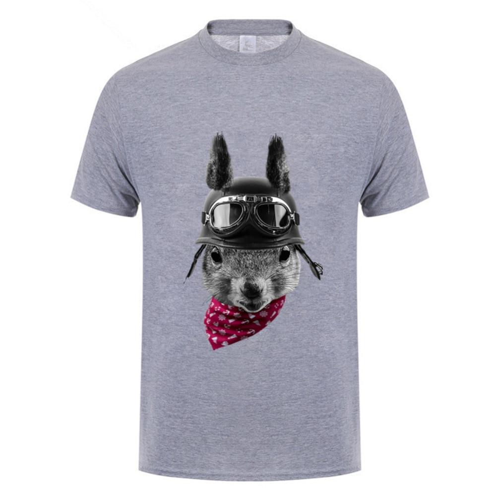 ¡Novedad! Camiseta de manga corta de motorista para hombre con diseño de ardilla, camisetas nuevas para hombres, neil young crazy horse