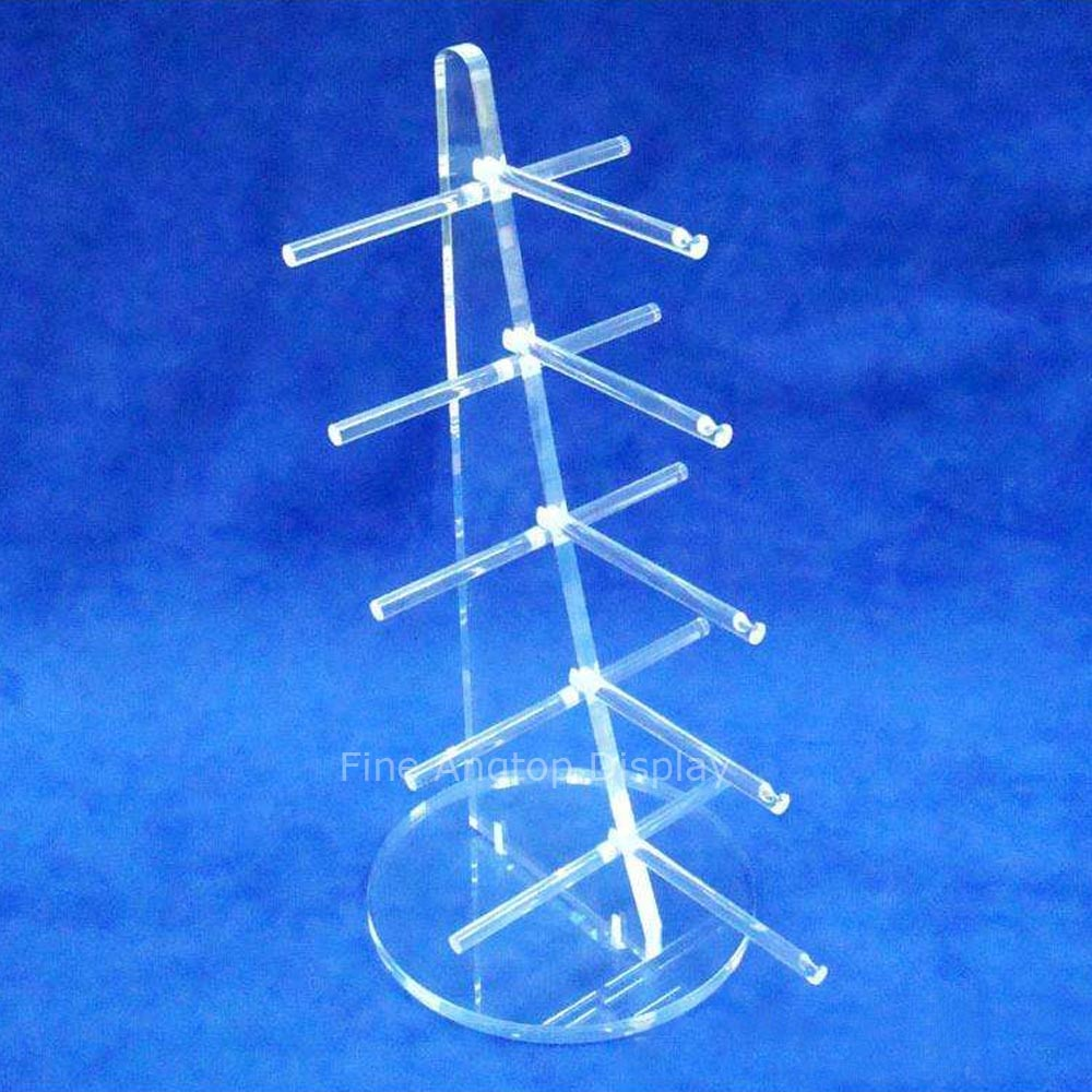 Clear Acrylic 5 Pairs Sunglasses Glasses Show Rack Counter Jewelry Display Stand Holder Quality