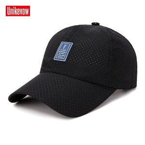 UNIKEVOW Solid quick-dry baseball cap For Men And Women High quality golf sports Leisure Hats Hip Hop Mesh baseball cap